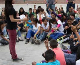 A survivor tells her story to at-risk youth in Mexico City as a part of our prevention curriculum