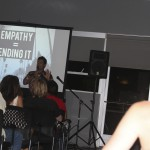 An iEmpathize team member shares a film and talk.