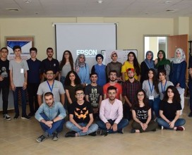 Students in Iraq who attended Areen's workshop